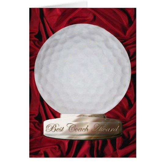 Golf Best Coach Award Card