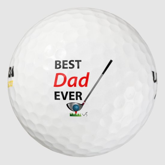 Golf Best Dad Ever Fathers Day Birthday Cool Golf Balls