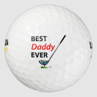 GOLF Best Daddy Ever Gift Cool Golf Balls