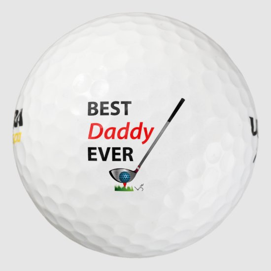 GOLF Best Daddy Ever Gift Cool Golf Balls