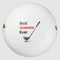 GOLF Best Grandpa Ever Gift Cool Golf Balls