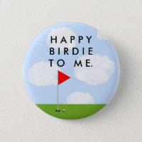Golf Birdie Pinback Button