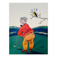 Golf Birdie - Vintage Golf Art Canvas Print