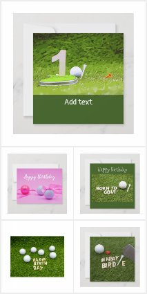 Golf Birthday Cards and Party Supplies