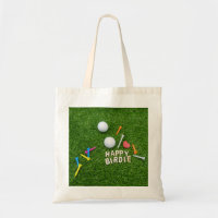 Golf birthday Happy Birdie with love for golfer Tote Bag