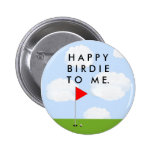 GOLF BIRTHDAY IDEAS PINBACK BUTTON