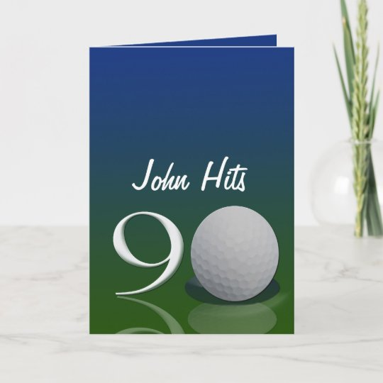 Golf Birthday Invitation For 90 Year Old