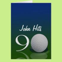 Golf Birthday Invitation for 90 year old