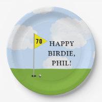 golf birthday paper plate