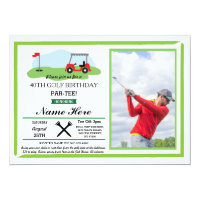 Golf Birthday Party Any Age 40th 50th Photo Invite