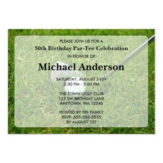 Golf Birthday Party Card
