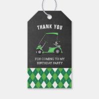 Golf Birthday Party Favor Gift Tags
