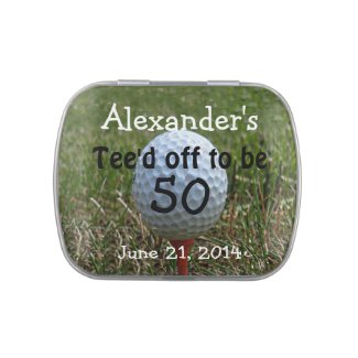 Golf Birthday Party Favors-Mint Candy Tin