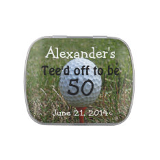 Golf Birthday Party Favors-Mint Candy Tin at Zazzle