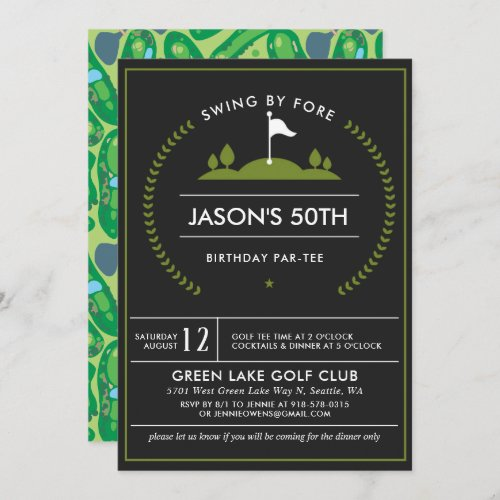 Golf Birthday Party Invitation