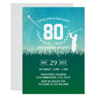 Golf Birthday Party Invitation