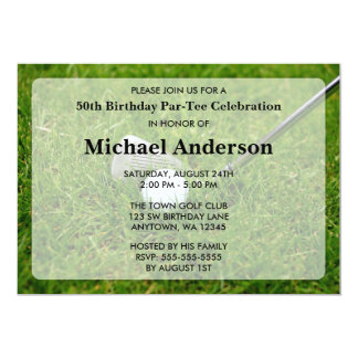 "Golf Birthday Party 5"" X 7"" Invitation Card"