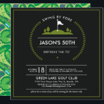 "Golf Birthday Party Invitation<br><div class=""desc"">This Party Will Be a Hole in One! Whether you are hosting a corporate golf tournament or a golf birthday party, every golfer will love these modern golf-themed party invitations. Golf invitations to Par-Tee! Set the mood with great golf invitations for golf outing, golf theme birthday party invitations, ladies golf...</div>"