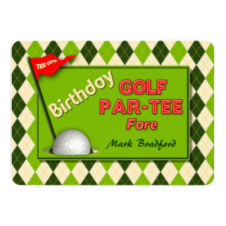 GOLF BIRTHDAY PARTY INVITATION - PAR-TEE
