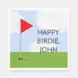 Golf Birthday Party Paper Napkin