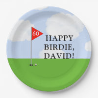 golf birthday party paper plate