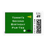 Golf Birthday Party Postage Stamp