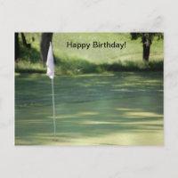 Golf Birthday Postcard