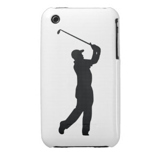 Golf Black Silhouette Shadow iPhone 3 Case-Mate Case