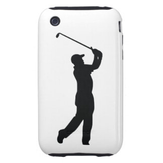 Golf Black Silhouette Shadow iPhone 3 Tough Covers