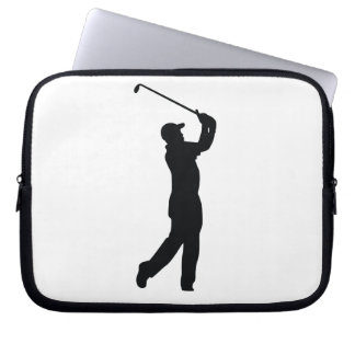 Golf Black Silhouette Shadow Laptop Computer Sleeve