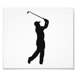 Golf Black Silhouette Shadow Photo Art