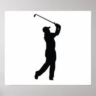 Golf Black Silhouette Shadow Poster