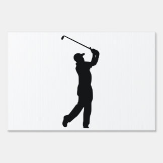 Golf Black Silhouette Shadow Sign