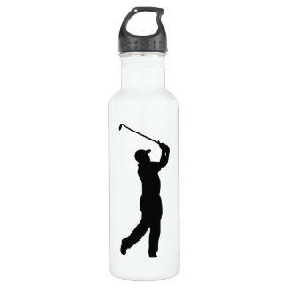 Golf Black Silhouette Shadow Stainless Steel Water Bottle