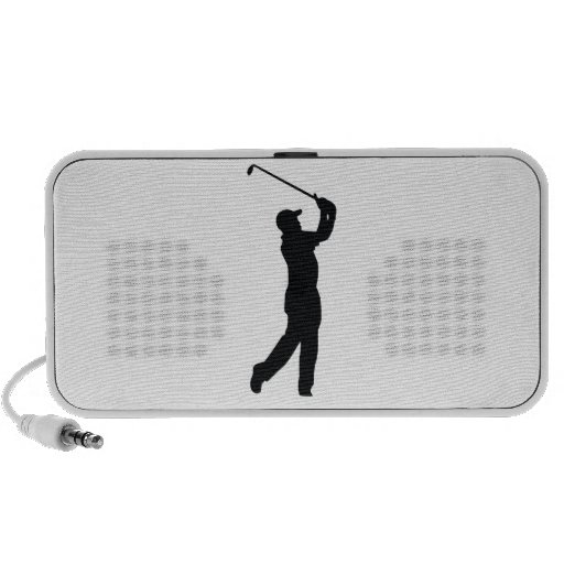 Golf Black Silhouette Shadow Travelling Speaker