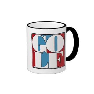 GOLF - BLOCK RINGER COFFEE MUG