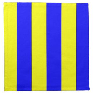 Golf Blue and Yellow Cloth Napkin