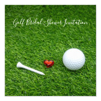 Golf Bridal Shower Invitation with ball and love
