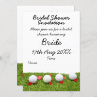 Golf Bridal Shower Invitation with golf ball