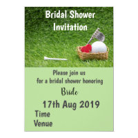 Golf Bridal Shower Invitation with golf ball