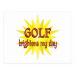 Golf Brightens My Day Postcards
