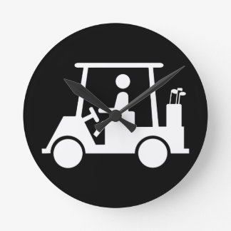 Golf Buggy Round Clock