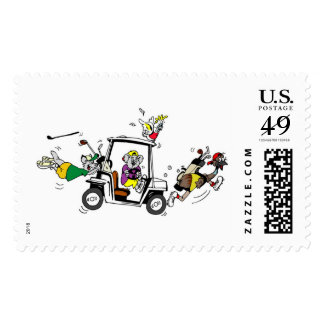 Golf buggy stamp