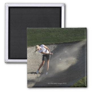 Golf bunker action 2 inch square magnet