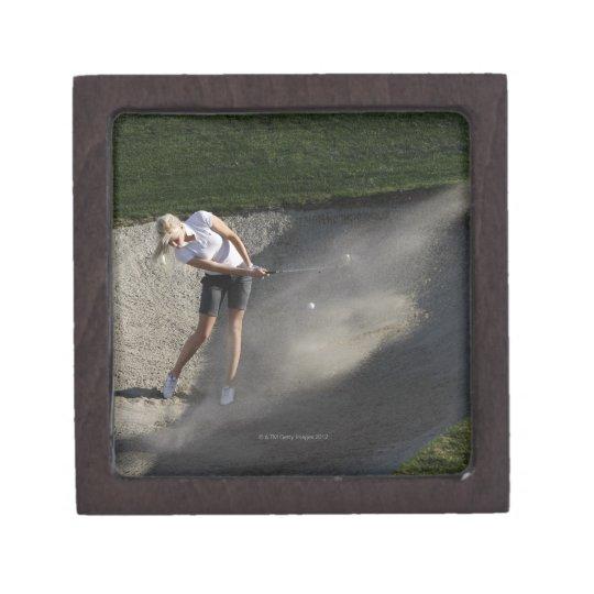 Golf bunker action keepsake box