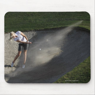 Golf bunker action mouse pad