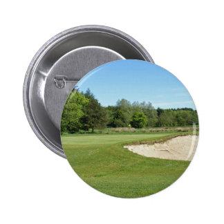 Golf Bunker Pinback Button