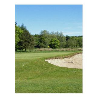 Golf Bunker Postcard