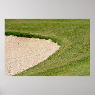 Golf Bunker Poster