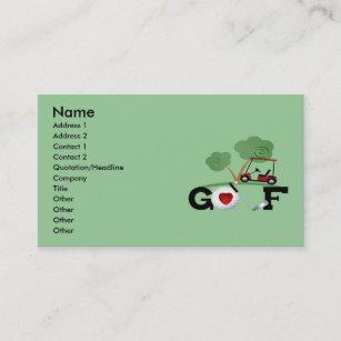 Golf business cards templates zazzle golf business card colourmoves